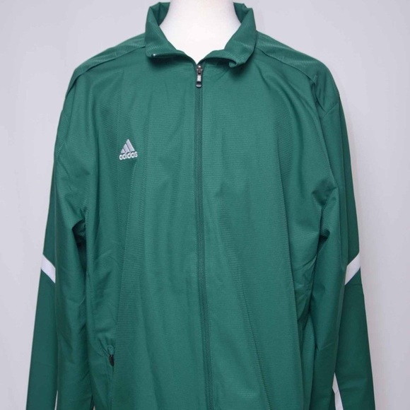 f58bfc300ada Adidas new full zip green warm up jacket sz XXL